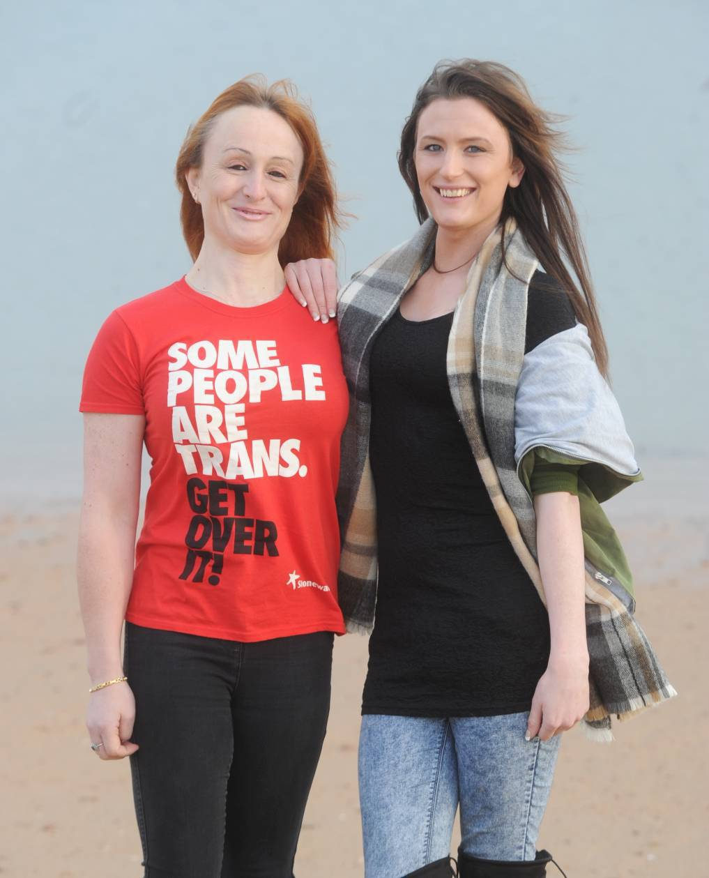 Pictured are transgenders Justine Smithies, left and Brooke Olsen from Peterhead. Picture by CHRIS SUMNER Taken 16/1/16